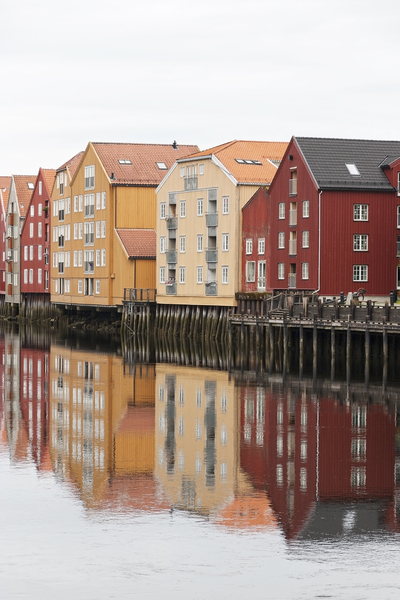 Trondheim, Norway: Old riverside houses in Trondheim, Norway.