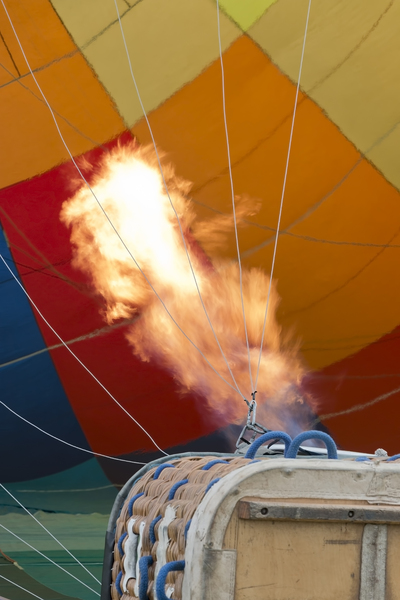 Heating a hot air balloon