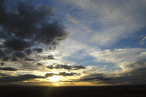 2 Sunsets in one?: Karoo sunset, South Africa.NB: Credit to read
