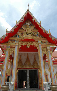 Bhuddist temple: Temple at Wat Chalong (I think), Thailand. Can't remember, we visited so many...NB: Credit to read