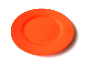 No food for you! 1: Empty plastic orange plate