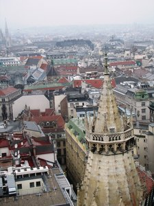Vienna: View over Vienna from the St. Stephen's Cathedral tower