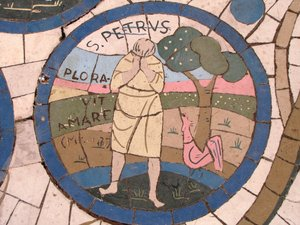 Bible image pavement: Peter