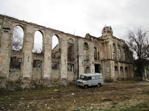 ruin: Ruined house in Chisinau Moldova