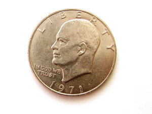 coin: United States of America - One dollar 1971