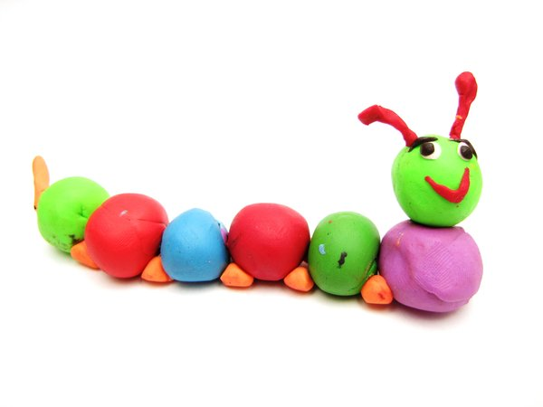 caterpillar: just my children being creative with play-dough :-)