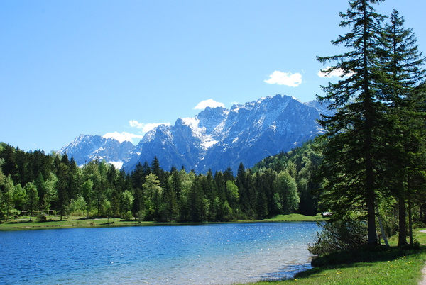 lake in the alps: lake in the alps