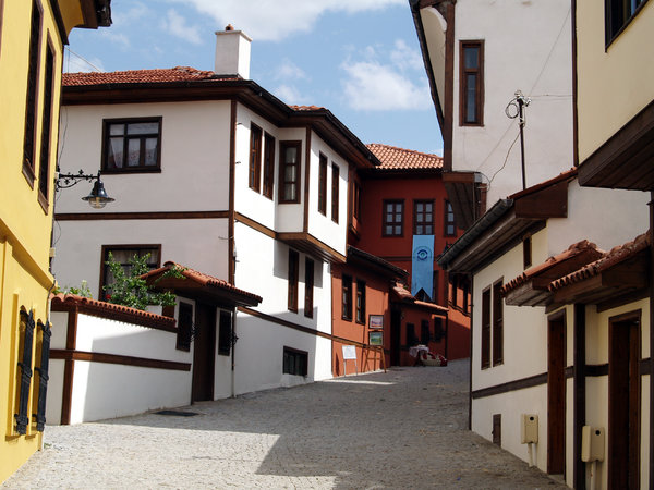 Traditional Houses in Eskisehi: Traditional houses of the 19th century in Eskisehir/Turkey, renovated.