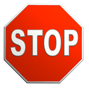 stop: road sign