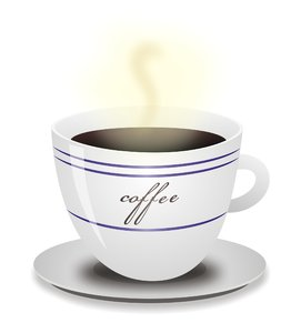 cup of coffee: vector image of coffee cup's