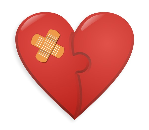 Puzzle heart: wounded heart