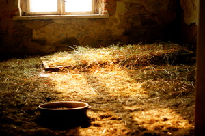 light: A room in a deserted house.