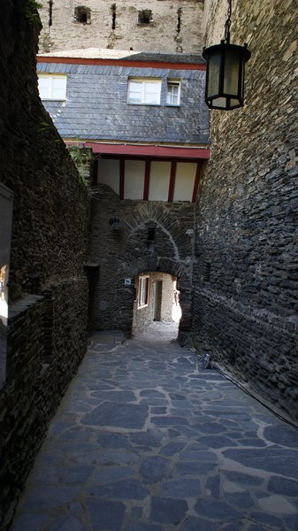 Ancient castle road: An ancient castle road in castle Schönberg, Bacharach, Germany