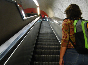 Subway roltrappen: