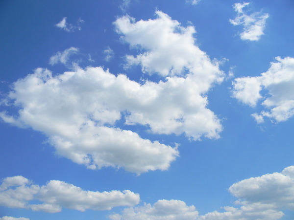 Clouds 1: Beautiful blue sky with white clouds
