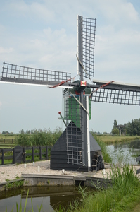 Water mill: Dutch water mill in the Zaanse Schans near Amsterdam, The Netherlands