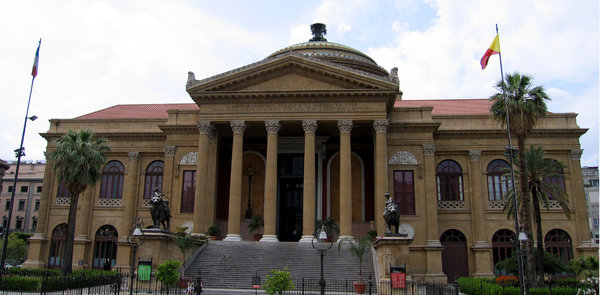 Palermo Opera House: The Opera House of Palermo, Sicily. Remember the Godfather? That place!