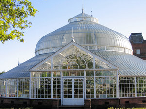 Kibble Palace glasshouse: The Kibble Palace glasshouse, situated within the Botanic Gardens in Glasgow, Scotland, is one of the most prestigious iron and glass structures remaining from the Victorian era.