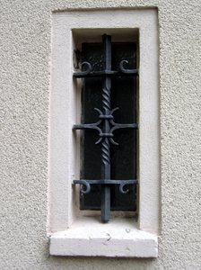 wrought-iron window: wrought-iron window