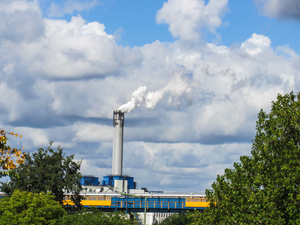 industrial smokestack: industrial smokestack