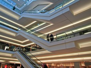 shopping mall interior: shopping mall interior