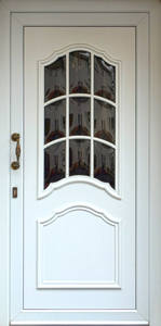 door with bull's eye panes: door with bull's eye panes