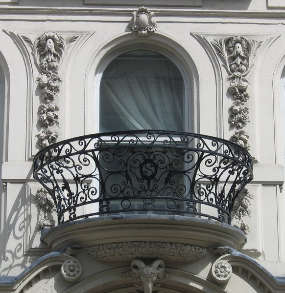 wrought-iron balcony: wrought-iron balcony