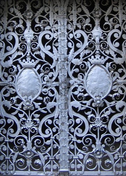 wrought-iron door: wrought-iron door