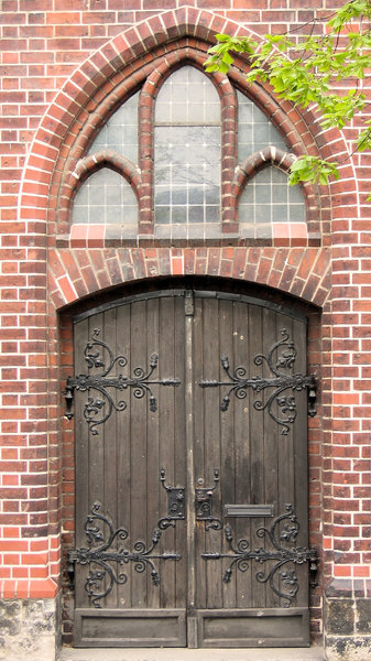 old church door: old church door of  St. Mary's Church, known in German as the Marienkirche, is a church in Berlin, Germany. The church is located on Karl-Liebknecht-Strasse (formerly Kaiser-Wilhelm-Strasse) in central Berlin, near the Alexanderplatz.