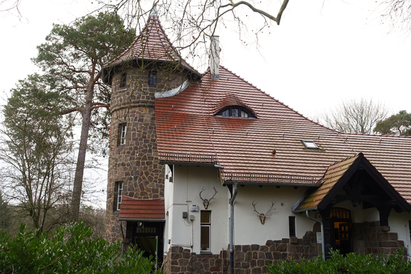 house with a tower: forester's house with a tower