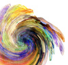 Paint Twirl 1: Variations on an abstract twirl.