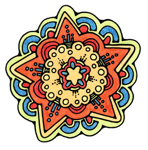 Star: Colorful Hand Drawn Star Graphic.Please visit my stockxpert gallery:http://www.stockxpert.com ..