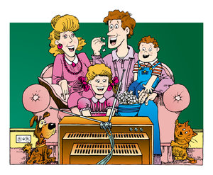 Family Time: Retro Cartoon Family Please purchase some of my art if you can.
