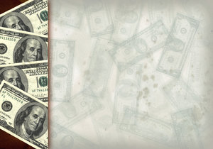 Money Collage 6: Variations on a vintage money collage.