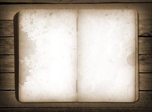 Open Book: A vintage open book background.