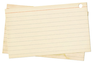 Index Cards: A couple of vintage index cards.