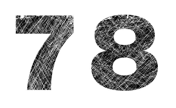 7 and 8: distressed numbers.Please visit my stockxpert gallery:http://www.stockxpert.com ..