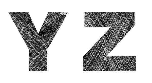 Y and Z: Distressed Letters.Please visit my stockxpert gallery:http://www.stockxpert.com ..