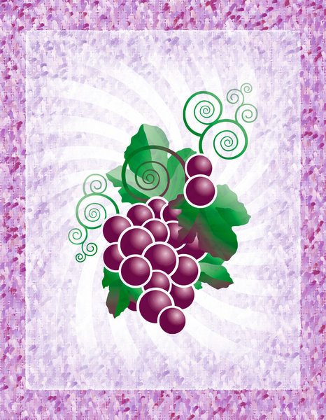 Basho Grapes: Grapes on a basho paper texture.Please visit my stockxpert gallery:http://www.stockxpert.com ..