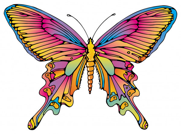 Butterfly: A colorful illustration of a butterfly. Visit me at Dreamstime: 