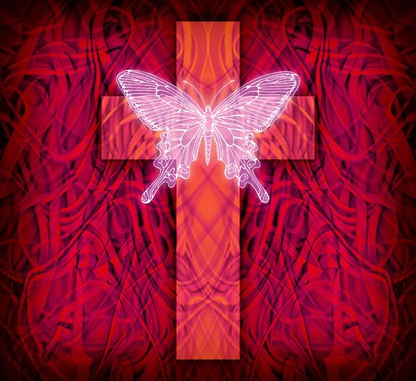 Rebirth 2: Lo Res variations on a cross and butterfly.Please visit my gallery at:http://www.stockxpert.com ..