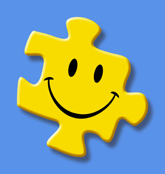 Happy Puzzle: A yellow puzzle piece with a happy smile.Please visit my stockxpert gallery:http://www.stockxpert.com ..