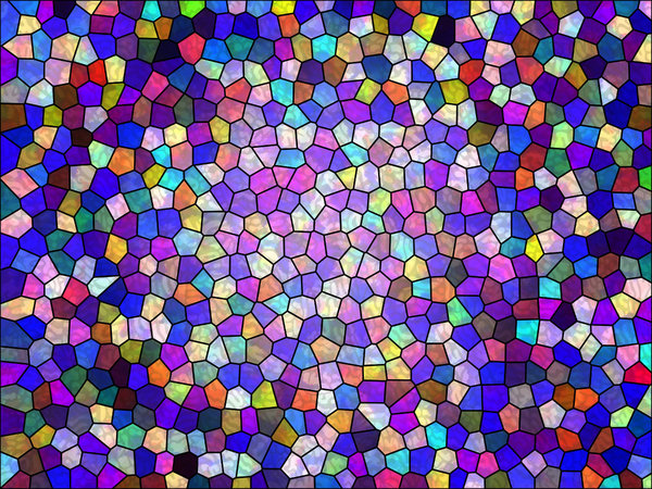 Colours 10: A series of digital abstract paintings with a stained glass effect.