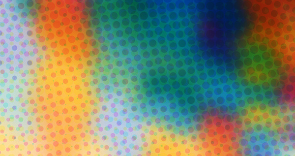 Paint Texture: An abstract paint texturewith color halftone dots.
