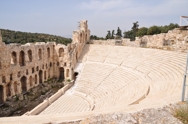 Odeion of Herodes Atticus 1: An ancient theater on the Acropolis in Athens, Greece