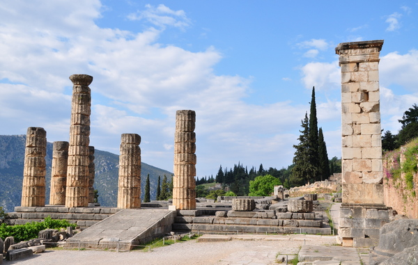 Temple of Apollo 2: The temple of apollo. This site is home to the oracle of the delphi.