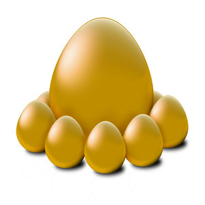 Golden Egg 2: A high resolution Golden egg stock illustration to be used in concept for depicting wealth and richness.