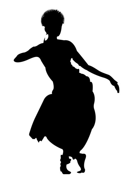 Classical dance: silhouette of an Odissi Dancer
