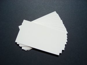 Business cards: Plain business cards on dark backgound