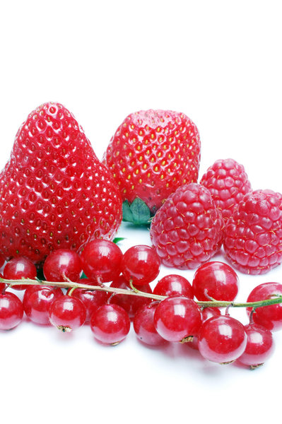 Red fruit.: Some mixed red fruit.
